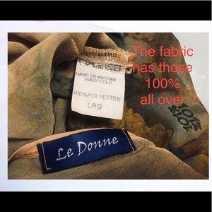 Le Donne Tops - Le Donne  Summer Elegant Blouse, Cold Shoulder